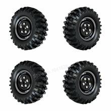 4pcs 108mm 1 9 Alloy Tires Wheels Rim Hex 12mm For 1 10th RC Crawler Climbing