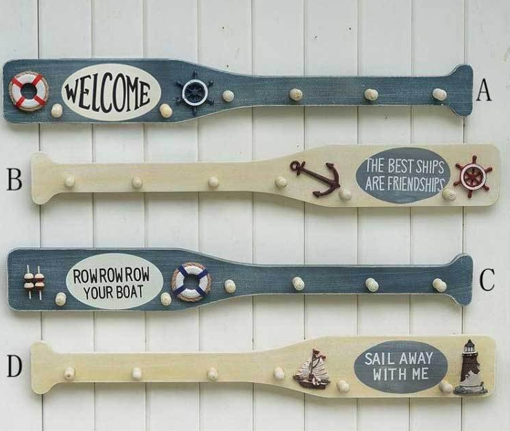 Nautical Wall Decor Oars: Wool Wooden Oars Home Wall Clothes Towel Door Finaning