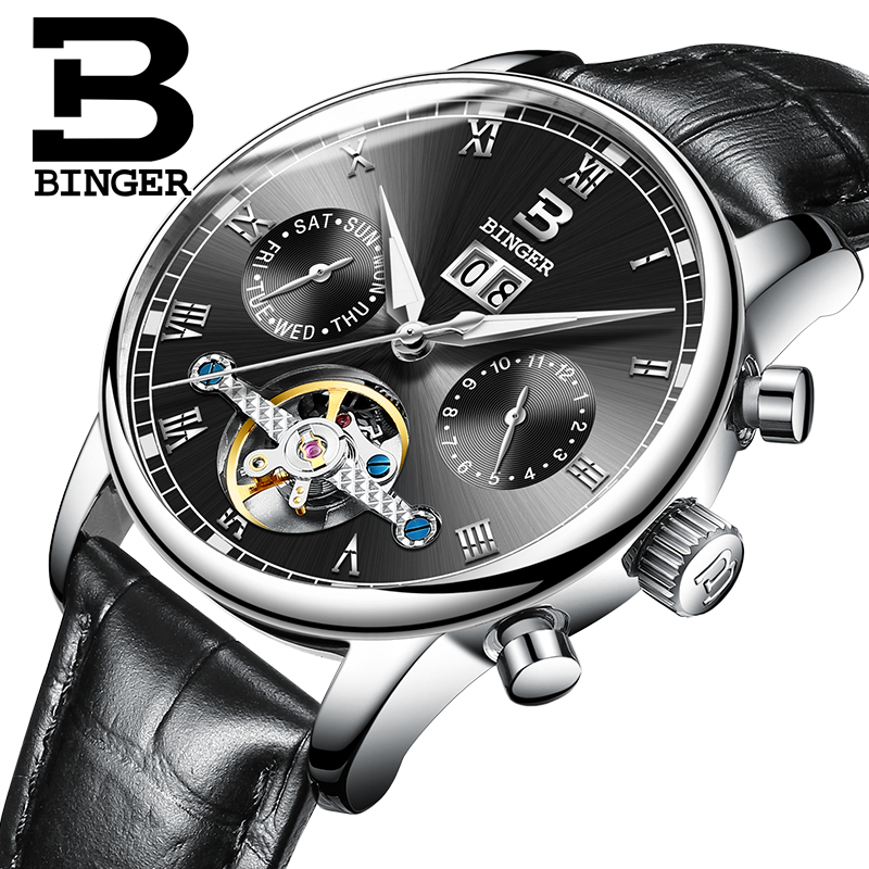2019 BINGER Mens Business Watches Luxury Top Brand Automatic Mechanical Watch Men Stainless Steel Waterproof Relogio Masculino2019 BINGER Mens Business Watches Luxury Top Brand Automatic Mechanical Watch Men Stainless Steel Waterproof Relogio Masculino