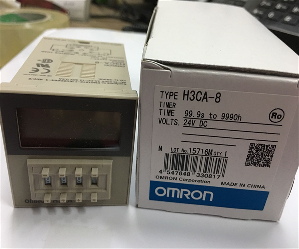 100 new original OMRON time relay H3CA 8 DC24V AC220V