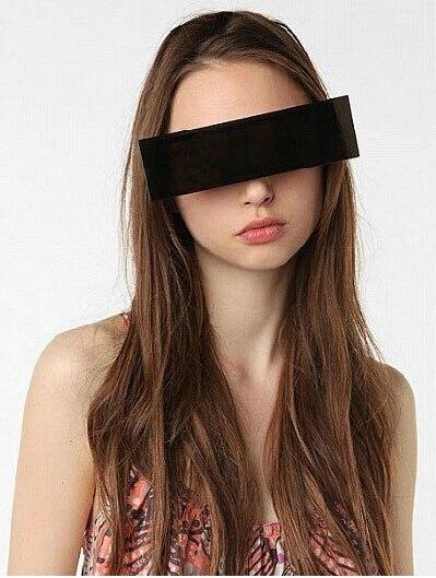 Tikt galā ar to, brilles viengabalains taisnstūris melnas joslas - Apģērba piederumi - Foto 2