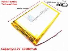 3.7 V 10000 mAh 1260100 De Polímero De Lítio Lipo células Li-Po Bateria Recarregável de iões de lítio Para Electrograph PDA Portátil falante brinquedos