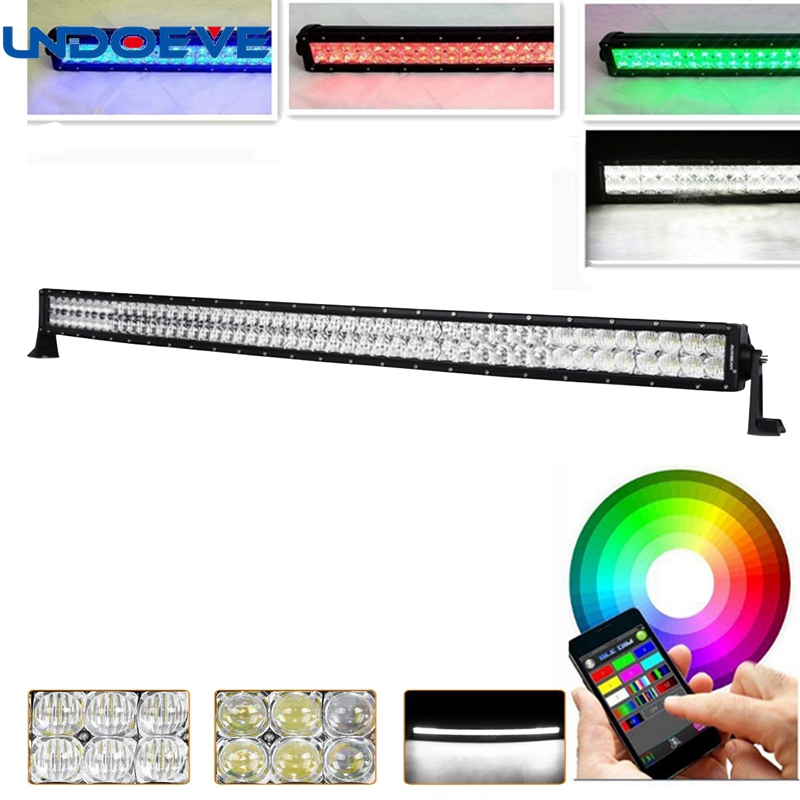 Led Bar Lights For Trucks | 50Inch 288W ColorMorph 5D LED Light Bar Lights 10 Solid Colors Changing 80 Kinds Chasing Modes Remote Control For Jeep Trucks