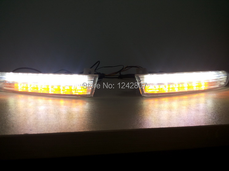 NEW arrival for VW Volkswagen Passat CC led drl daytime running light front with turn light function top quality fast shipping 2 pcs drl led day daytime running light fog lamp with turn signal function fit for vw volkswagen cc new auto accessory