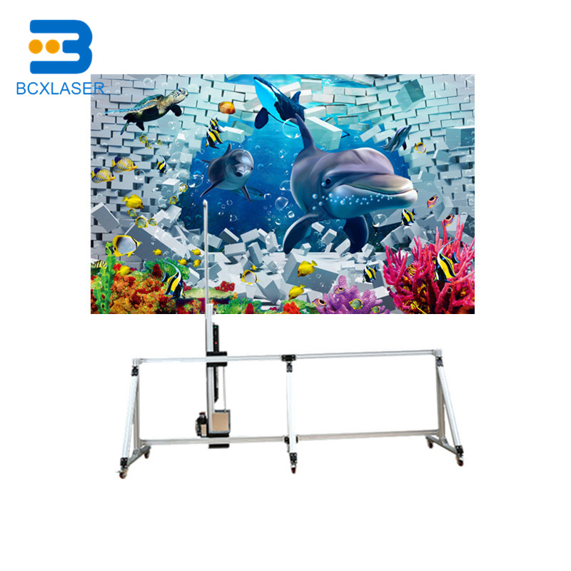 Outdoor 3D Vertical Wall Painting Machine Wall Printer Direct To Wall Painting
