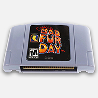 Conker S Bad Fur Day English Language For 64 Bit USA EU Version Video Game Cartridge