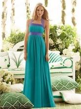 Free Shipping Simple Design Sheath Halter Chiffon Floor Length Two Tone Bridesmaid Dresses BD027