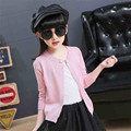 Knitted Sweater Kids Cardigan Completo Chandail Enfants Filles Outerwear For Spring Autumn Girls Sweaters Children 70J035