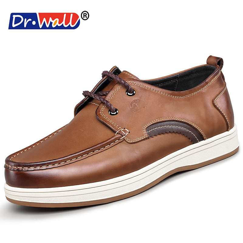 Sapato Masculino New Arrival 2017 Dr.wall Brand New Style Retro Men's Leather Casual Shoes, High Quality Men Lace Up Shoes zapatos hombre sapato masculino couro new fashion high quality brand lace up genuine leather mens casual shoes multi color blue