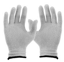 2pcs/1pair Conductive TENS Massage gloves for TENS/EMS physical therapy Hand Massage .