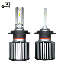 купить Fuxuan 2PCS H4 Led H7 LED H1 H11 H9 H8 9005 HB3 H10 9006 HB4 9012 6000K 30W 12V/24V Car Light Auto Headlight with Philips Chips дешево