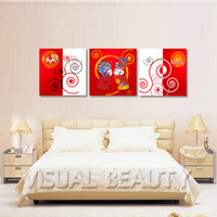 FREE SHIPPING May You Be Happy and Prosperous Canvas Picture Painting Print on Canvas(Unframed)50x50cmx3pcs