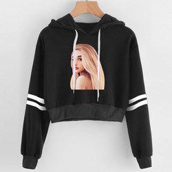 2019 Korean crop top hoodie Women Harajuku Kawaii Ariana Grande Hoodie clothes Female Pink Casual Hip Hop Hoodies Sweatshirts 4