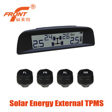 Solar Power Supply TPMS / Wireless Tire Pressure Monitoring System For Car External Sensors Intelligent Induction Safe Driving