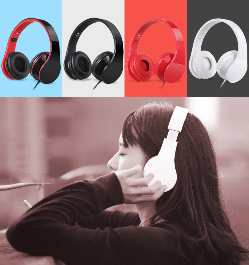 Brand New Headband Wired Headphone 3.5mm Stereo Casque Audio Noise Isolating Gaming Head