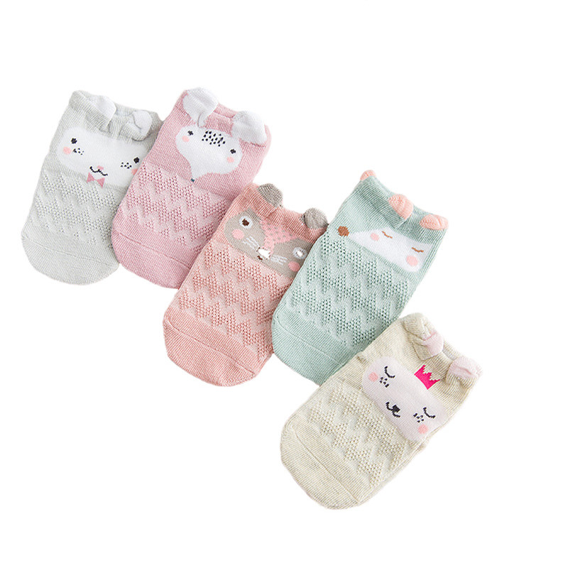 5pairs Cotton Newborn Baby Socks Cartoon 3D Animal Girl Boy Short Socks Summer Mesh Thin Childrens Socks New Born Baby Clothes5pairs Cotton Newborn Baby Socks Cartoon 3D Animal Girl Boy Short Socks Summer Mesh Thin Childrens Socks New Born Baby Clothes