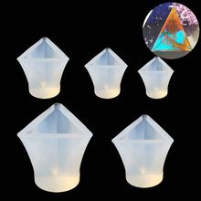 5 pcs triangular silicone mold, Cone Epoxy Resin Molds, Resin Stone Pendulum Crystal Column Pendant Silicone UV Resin Mold Jewel