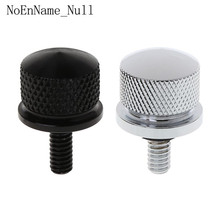 цена на High Quality Black/Silver Aluminum alloy Seat Bolt Billet for Harley Sportster Street Glide Motorcycle Accessories