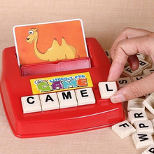 New Educational Learning Machines Hobbies English Language Teaching Puzzles Toys Alphabet Letter Word Spelling Game For Kids(China)