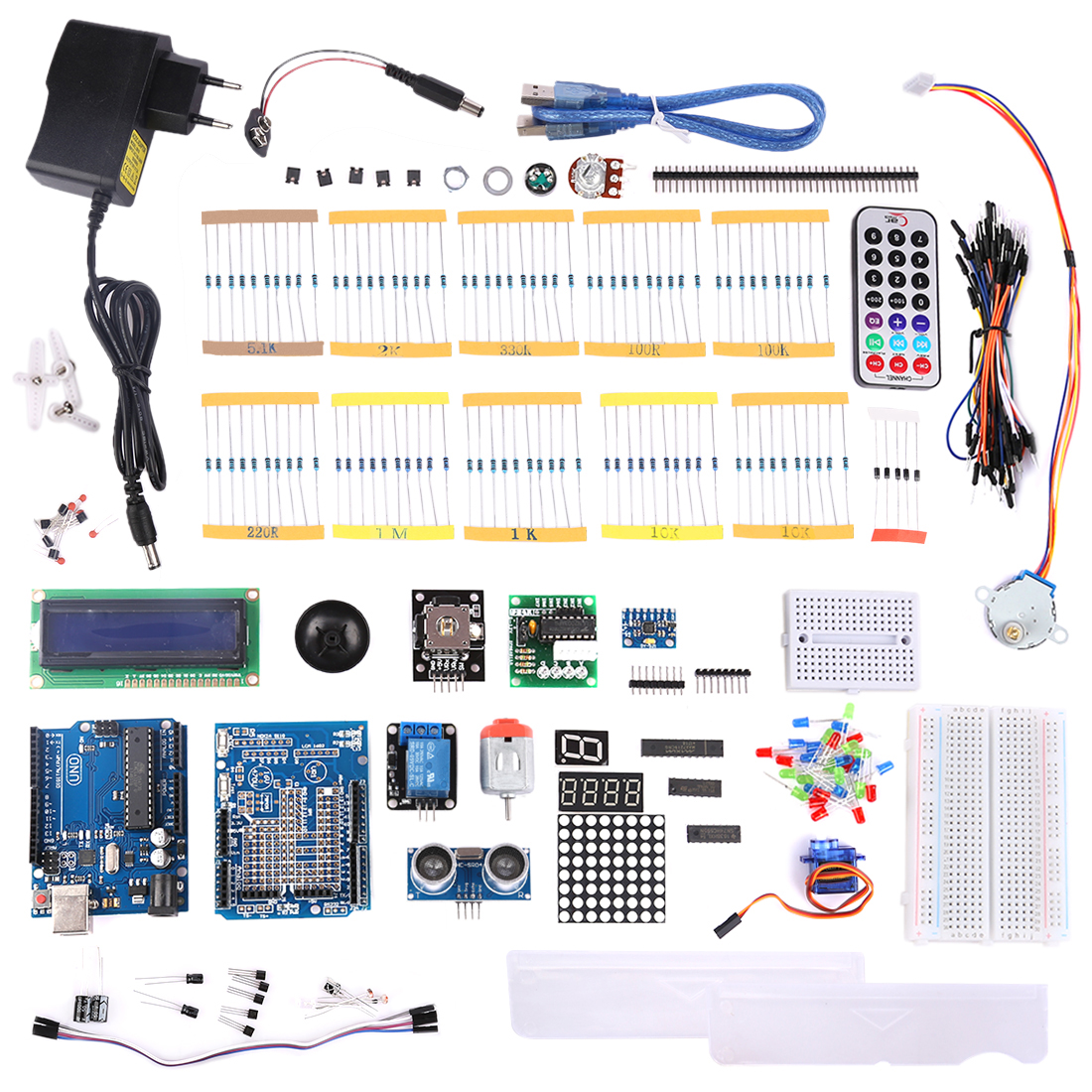 MODKIER New DIY KIT FOR UNO R3 Starter Learning Set For Arduino High Tech Programmable Toys /- US/EU Plug