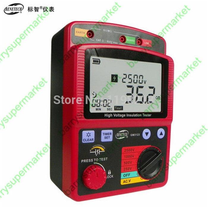 GM3123 testeur de résistance d'isolement numérique 2500 V 100 Gohm