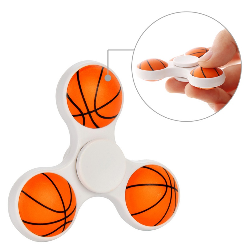 Ball Tri-Spinner Finger Fidget Toy EDC Hand Spinner for Autism and ADHD Anti Stress Relief Toys Gift fidget hand spinner brass metal edc finger spinner anti stress hand spinner for autism adhd toys gift spinning top