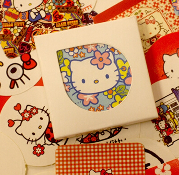 38Pcs/Pack DIDA DIDA Novelty Hello Kitty Kawaii DIY Memo Label Sticker Diary Stickers Home Scrapbooking Decoration K7456