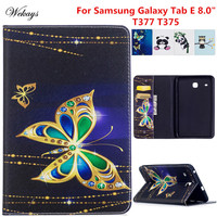 Wekays For Galaxy Tab E 8 0 T375 Cartoon Leather Stand Case For Coque Samsung Galaxy