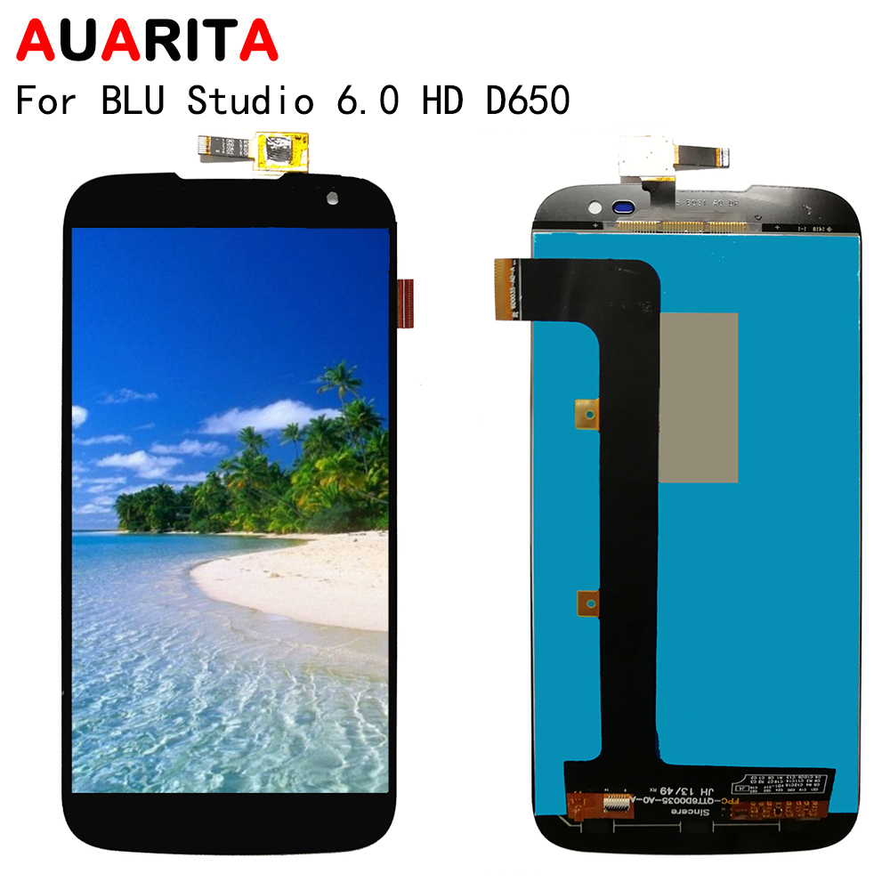 LCD For BLU Studio 6.0 HD D650 D651 LCD Display Touch panel Screen Digitizer assembly Phone Parts For BLU D650 LCD Display