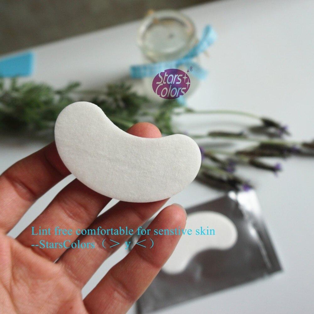 100 пар/лот ресницы шелковые толстые накладки для глаз под средства для коррекции ногтей льняные салфетки стикер Макияж инструменты