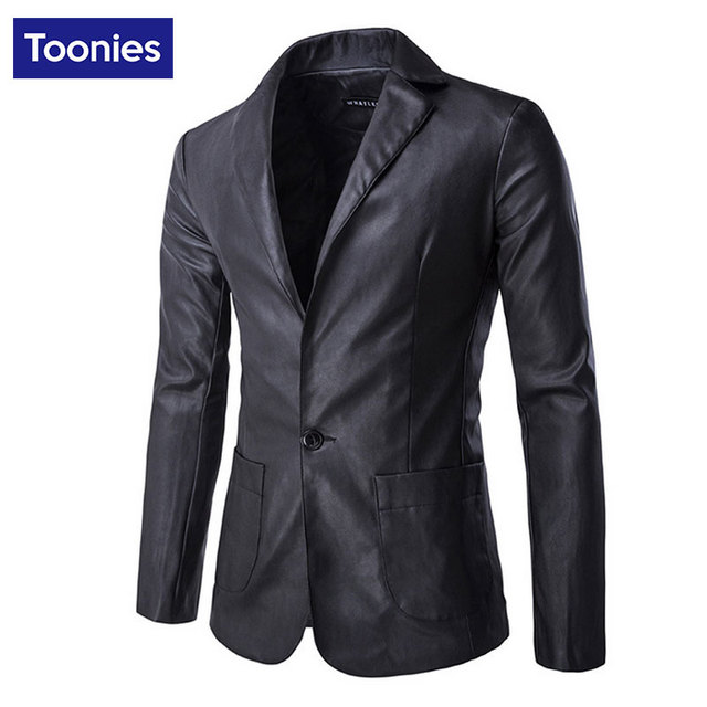 New Fashion Men's Faux leather Jacket Personality Male High Quality Leather Coats Men Motorcycle Black Green Veste Cuir Homme