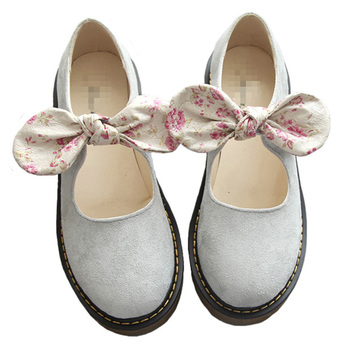 Sweet Literary Wild Shallow Mouth Bow Flat Single Shoes Nice New Korean Simple Versatile Nice Flat Shoes Women Casual Shoes