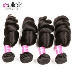 Eullair волосы малазийские свободные пучки волнистых волос 4 шт./лот 100% Remy человеческие волосы плетение пучков предложения натуральный цвет 8-30
