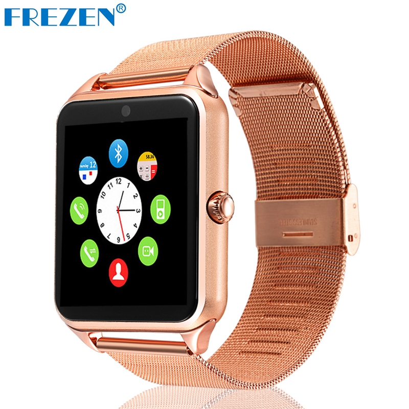 FREZEN Smart Watch GT08 Clock With Sim Card Slot Push Message Bluetooth Connectivity Android Phone Smartwatch
