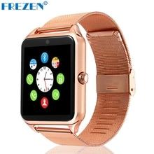 FREZEN Smart Watch GT08 Clock With Sim Card Slot Push Message Bluetooth Connectivity Android Phone Smartwatch GT08 PK DZ09 U8 V8