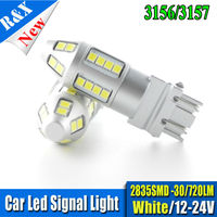 1pair Pure White T25 3157 30 2835LED Car Auto Brake Stop Tail Turn Signal Wedge Lights