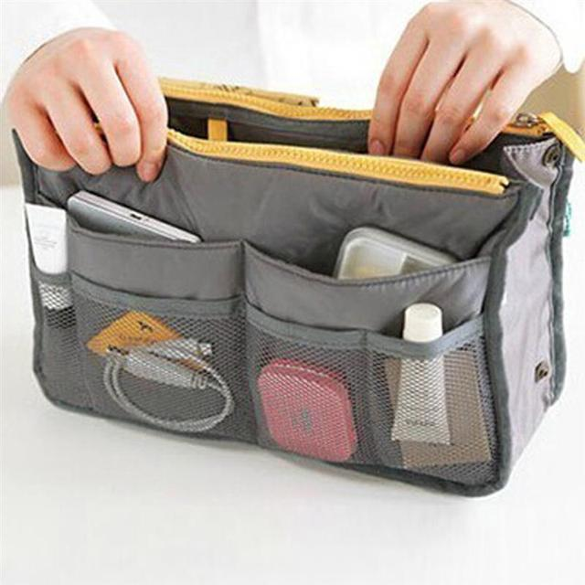High Quality Thicken Large Capacity Cosmetic Storage Bag Nylon Travel Insert Organizer Handbag Purse Makeup Bag For Women Female 4