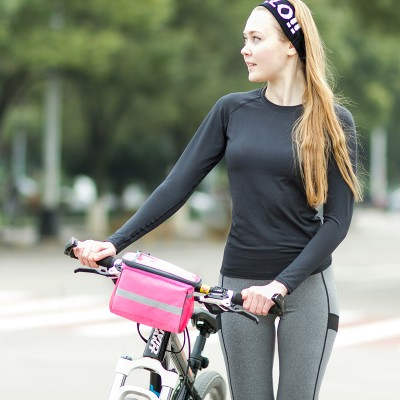 Fashion square style storage bag Useful Bicycle with touch screen window 19*10*15cm free shipping