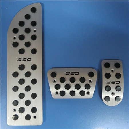 TTCR-II автомобильные аксессуары акселератора газ топлива Тормозная ног педали для VOLVO S60, нескользящая крышка Стикеры стайлинга автомобилей - Название цвета: 3 PCS