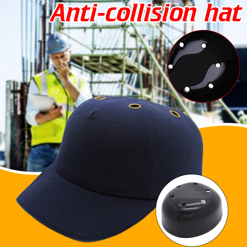 Work Safety Cloth Hat Baseball Bump Cap Helmet Baseball Style Sunscreen Protective Head Safety Hard Hat Anti-impact Lightweight