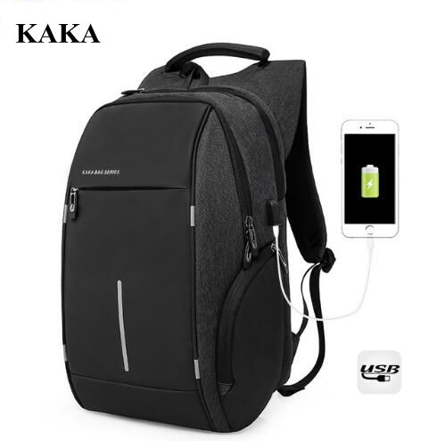 KAKA Men Travel Backpack Shoulder Bags 15 Inch Laptop Backpack for Men Travel Backpack USB Charging rucksack Mochila Male Bag men laptop backpack mochila masculina 15 inch backpacks women school bag luggage travel bags male shoulder bag rucksack packsack