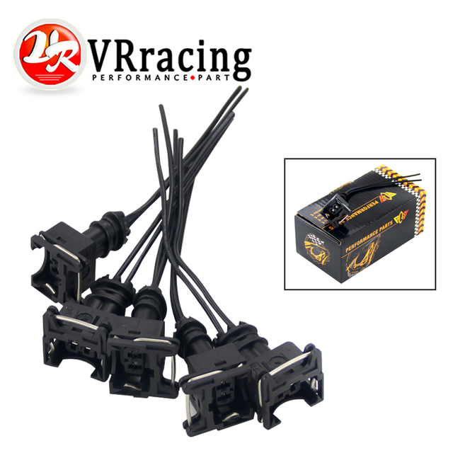 US $2 87 5% OFF|VR 5PCS /SET INJECTOR DYNAMICS EV1 Pigtail Clip Connector  Fuel Injector Connectors For many cars EV1 Injector Plug FIC14-in Fuel