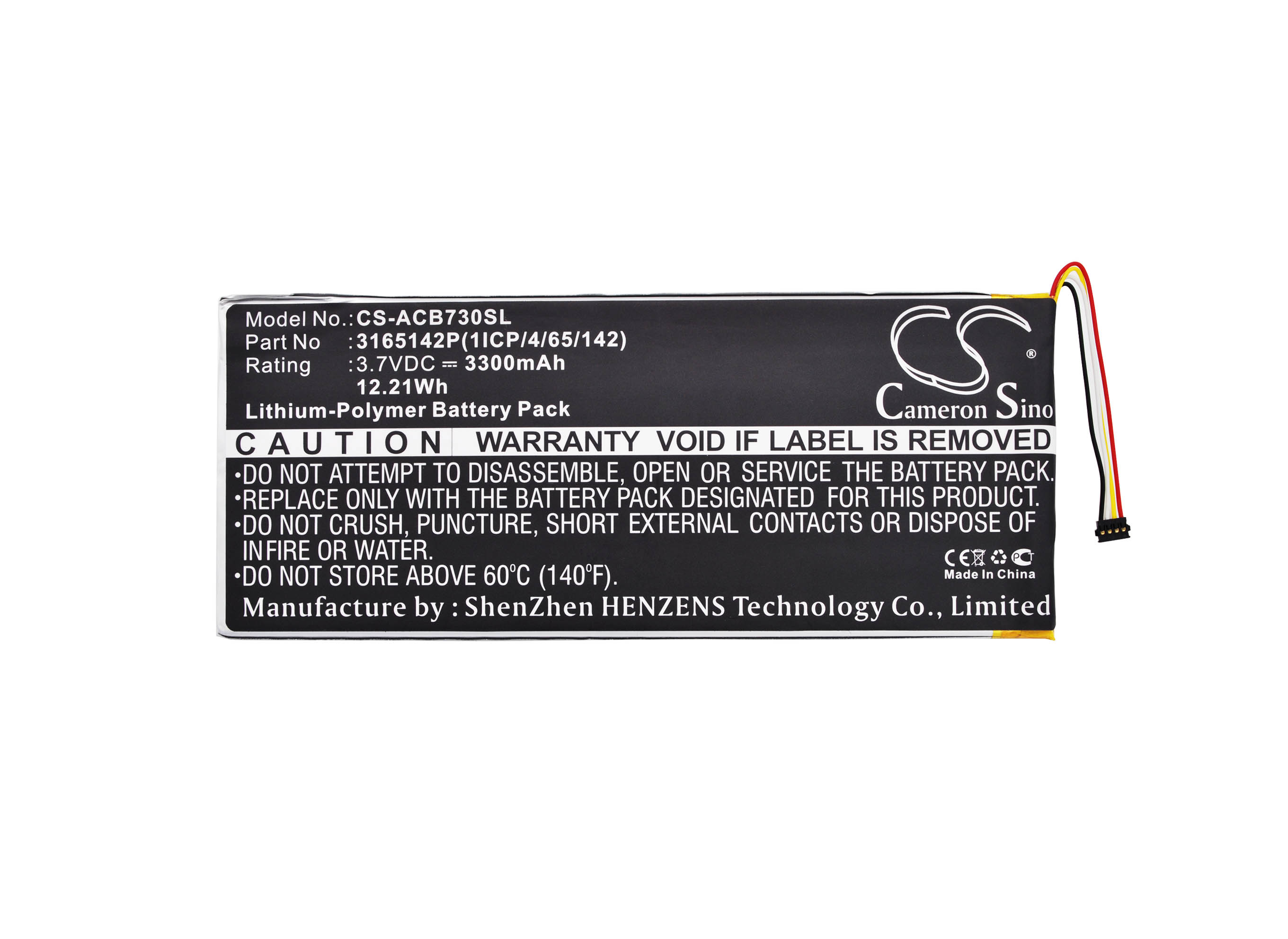 Cameron Sino 3300mAh Battery 3165142P, MLP2964137 for <font><b>Acer</b></font> A1402, Iconia One 7 <font><b>B1</b></font>-730, Iconia One 7 <font><b>B1</b></font>-<font><b>730HD</b></font> image