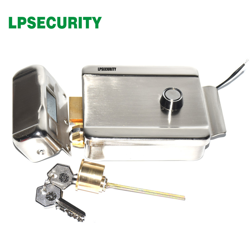 LPSECURITY RFID Electric Control Lock Electronic Door Gate Lock For Office House Access Control Video Intercom Door Phone