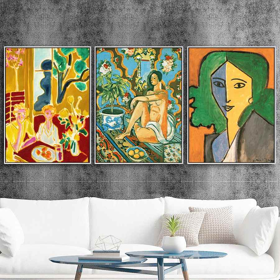 Home Decoration Print Canvas Art Wall Pictures Poster Canvas Printings Paintings French Henri Matisse Girl
