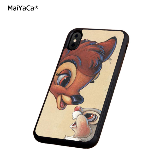 The deer and rabbit soft silicone edge phone cases for apple iPhone x 5s SE 6 6s plus 7 7plus 8 8plus XR XS MAX  cover case
