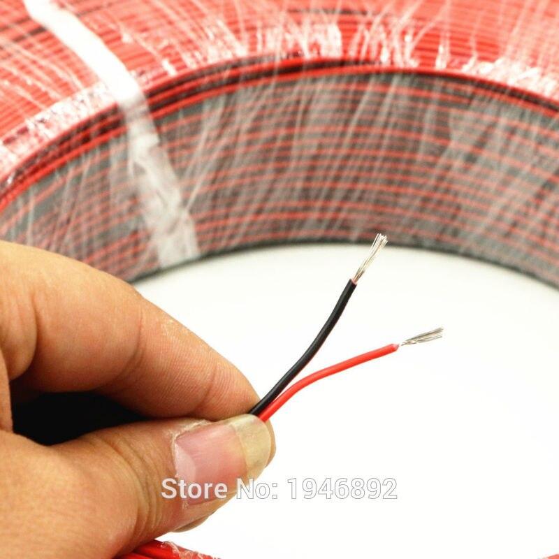 50 Meter Verzinnt kupfer 24AWG 2 pin Rot Schwarz kabel litze pvc ...