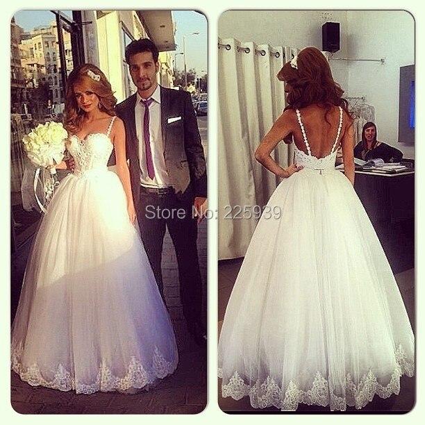 R 76487 Nova Moda Modest Vestidos De Casamento Do Querido Alcinhas Beleza Renda Apliques Corpo Inteiro A Linha Elegante Longo Vestidos De Noiva Em