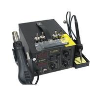 Hot air desoldering station SAIKE 852D+ Hot air gun and soldering iron 2 in 1