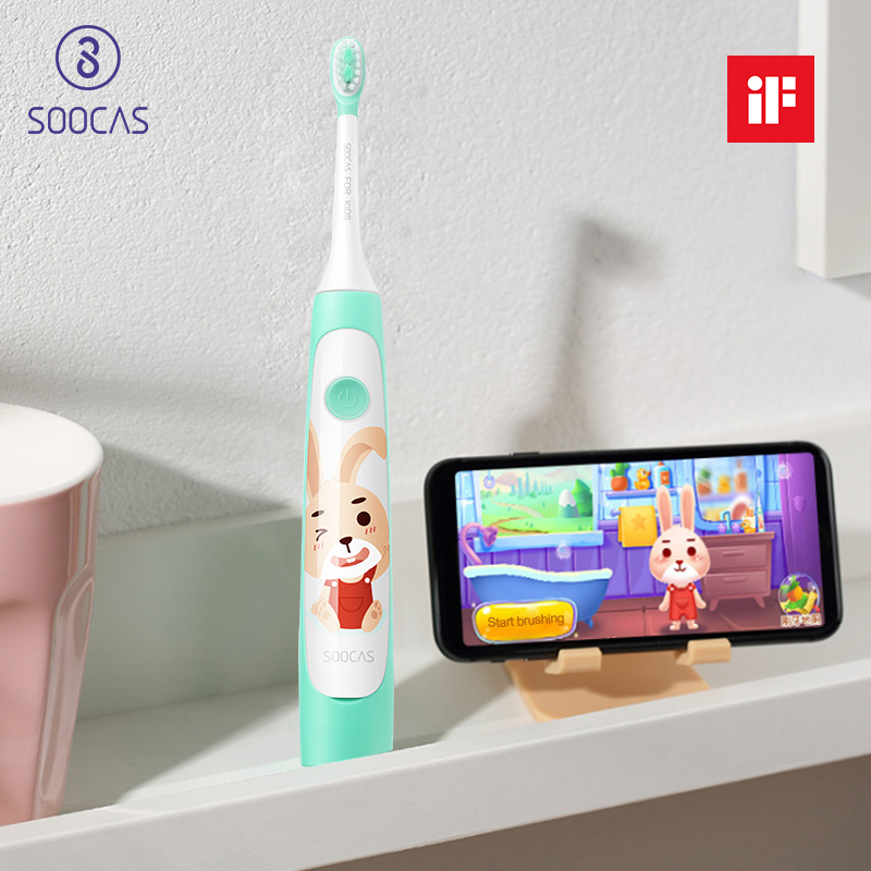 SOOCAS C1 Children Electric Toothbrush for Xiaomi Mijia Sonic Brush Teeth Child Kid Automatic Toothbrush Wireless Charging IPX7-in Electric Toothbrushes from Home Appliances